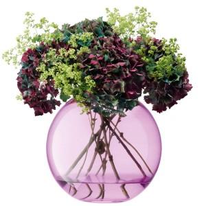 LSA GLOBE Vase H24cm Polka Vase, Pink