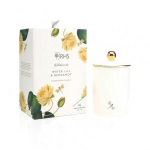 Wax Lyrical Candle Ceramic Water Lily & Bergamot