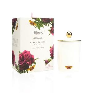 Wax Lyrical Candle Ceramic Black Cherry & Rose