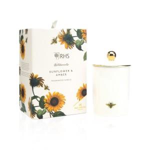 Wax Lyrical Candle Ceramic Sunflower & Amber