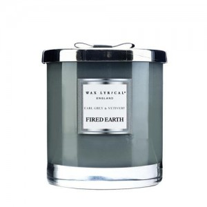 Wax Lyrical 2 Wick Scented Candle Fired Earth Earl Grey & Vetivert Large