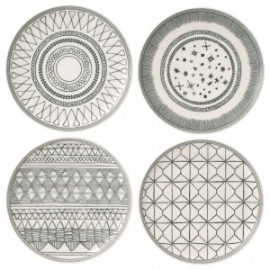 Charcoal Grey Side Plates 21cm (Set of 4) – Ellen DeGeneres