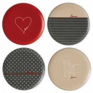 Love Signature Side Plates 21cm (Set of 4) - Ellen DeGeneres