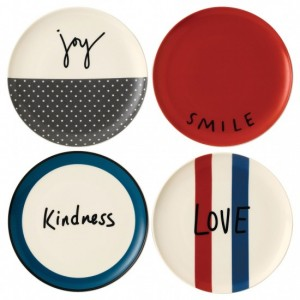 Joy Side Plates 21cm (Set of 4) – Ellen DeGeneres