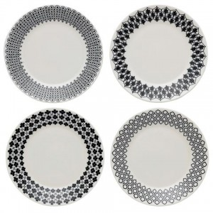 Charlene Mullen Mixed Tea Plate 4pce Set