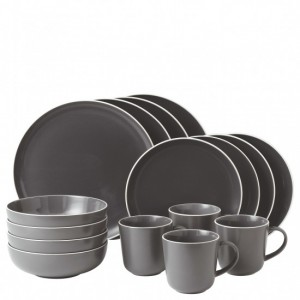 Bread Street Slate 16 Piece Dinner Set - Gordon Ramsay