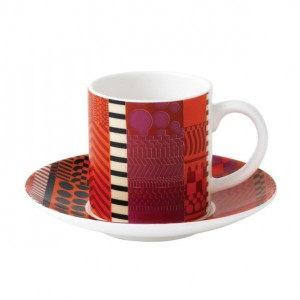 Paolozzi Accent Espresso Cup & Saucer