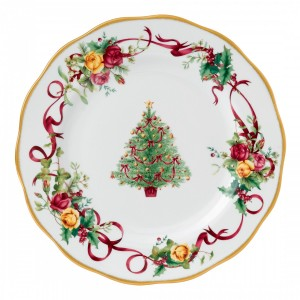 Old Country Roses Christmas Dinner Plate