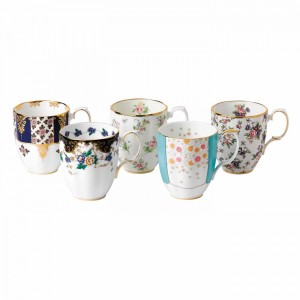 100 Years Of Royal Albert 5-Piece Mug Set (1900-1940)