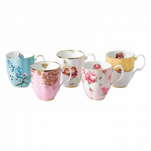 100 Years Of Royal Albert 5-Piece Mug Set (1950-1990)