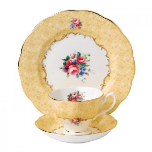 100 Years Of Royal Albert 1990 Bouquet 3-Piece Place Setting