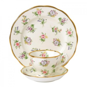 100 Years Of Royal Albert 1920 Spring Meadow 3-Piece Place Setting