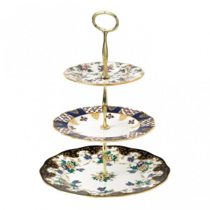 100 Years 3-Tier Cake Stand-English Chintz, Regency & Duchess