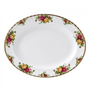 Old Country Roses Large Oval Dish