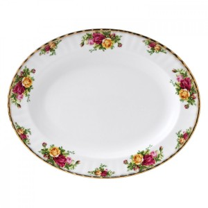 Old Country Roses Small Oval Dish