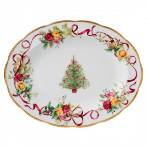 Old Country Roses Christmas Tree Platter