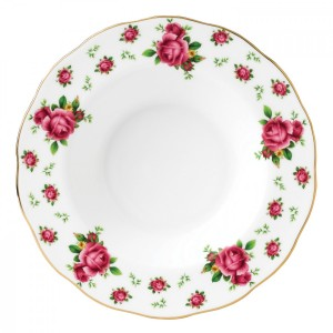 New Country Roses White Vintage Rimmed Soup 24cm