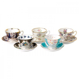 100 Years Of Royal Albert 1900-1940 5-Piece Teacup & Saucer Set