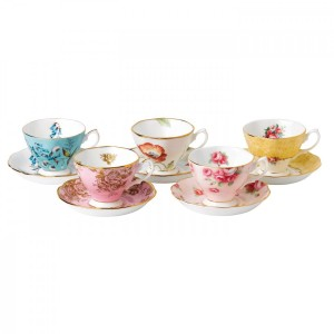 100 Years Of Royal Albert 1950-1990 5-Piece Teacup & Saucer Set