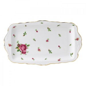 New Country Roses White Vintage Sandwich Tray