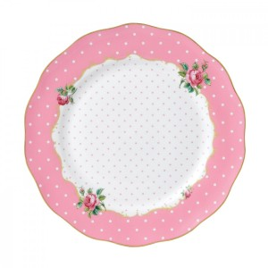 Cheeky Pink Vintage Plate 27cm