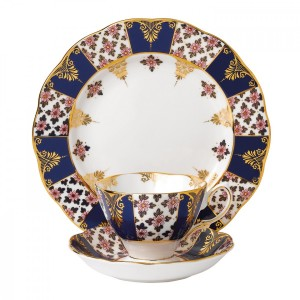 100 Years Of Royal Albert 1900 Regency Blue 3-Piece Place Setting