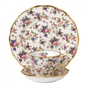 100 Years Of Royal Albert 1940 English Chintz 3-Piece Place Setting