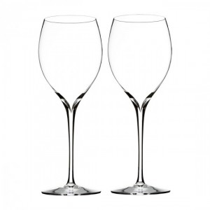 Waterford Crystal Clear Elegance Chardonnay Wine Glass, Pair