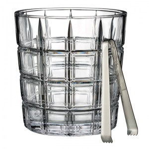 Marquis by Waterford Crystal/ Crosby Ice Bucket with Tongs