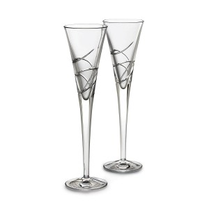 Waterford Crystal Ballet Ribbon Flute Pair 146134
