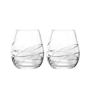 Waterford Crystal Ballet Ribbon Tumbler Glasses 18oz