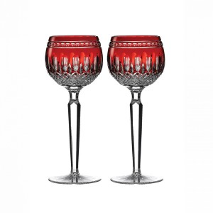 Waterford COLLEEN Ruby Red Wine Goblets