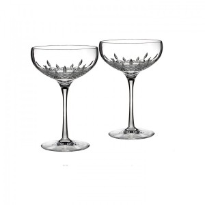 Lismore Essence Champagne Saucer, Pair Set Of 2