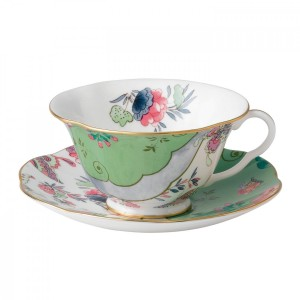 Wedgwood Butterfly Bloom Teacup And Saucer Green