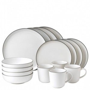Bread Street White 16 Piece Dinner Set - Gordon Ramsay