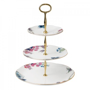 Wedgwood Butterfly Bloom 3-Tier Cake Stand