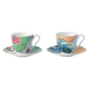 Wedgwood Butterfly Bloom Espresso Cup And Saucer (Set Of 2)