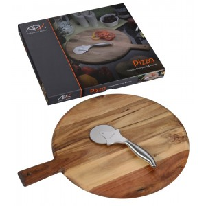 Arthur Price Kitchen Cheese Pizza Board and Cutter Boxed Set