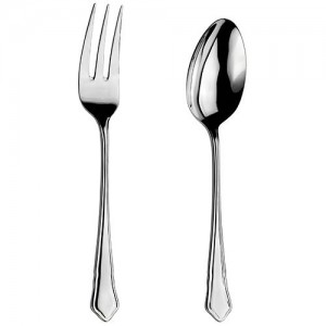 Arthur Price Classic Dubarry Serving Spoon & Fork Set