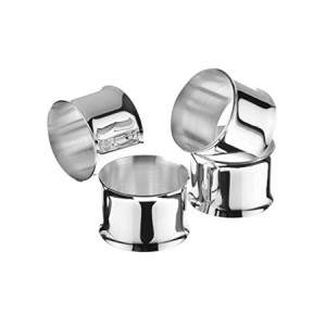 Arthur Price Silver Plated Inspiration Napkin Rings, Set of 4