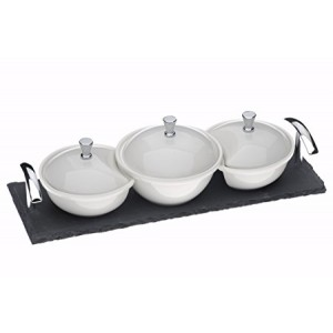 Arthur Price Kitchen Covered Dishes on a Slate Base Set of 3