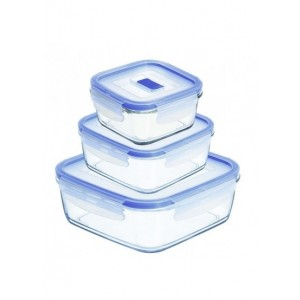 Luminarc storage box  Pure Box Active set of 3
