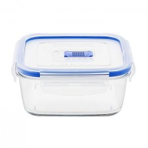 Luminarc storage box Pure square  Box Active Clear Press Cover 76 cl