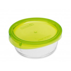 Luminarc storage box Keep'N Round Box With Green Press Cover 67 cl
