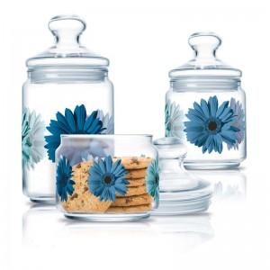Luminarc Storage Glass Jar 3 pcs set 0.5 L, 0.75 L, 1.0 L Clear A La Folie Lagon