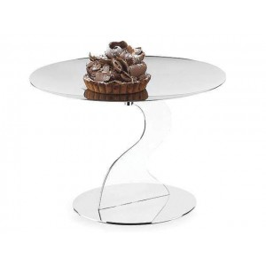 LF ALZATE MEDIUM CAKE STAND IN STAINLESS STEEL