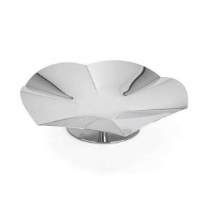 LF ALZATE LARGE CONCAVE SERVING STAND IN STAINLESS STEEL