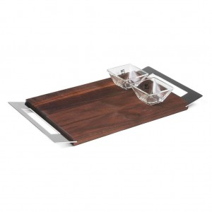 LF Tray Cutting board with glass bowls