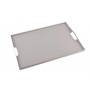 LF CAFE LATE MATTE DOVE GRAY SERVING TRAY IN STAINLESS STEEL