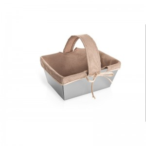 LF Basket in 18/10 stainless steel and beige fabric